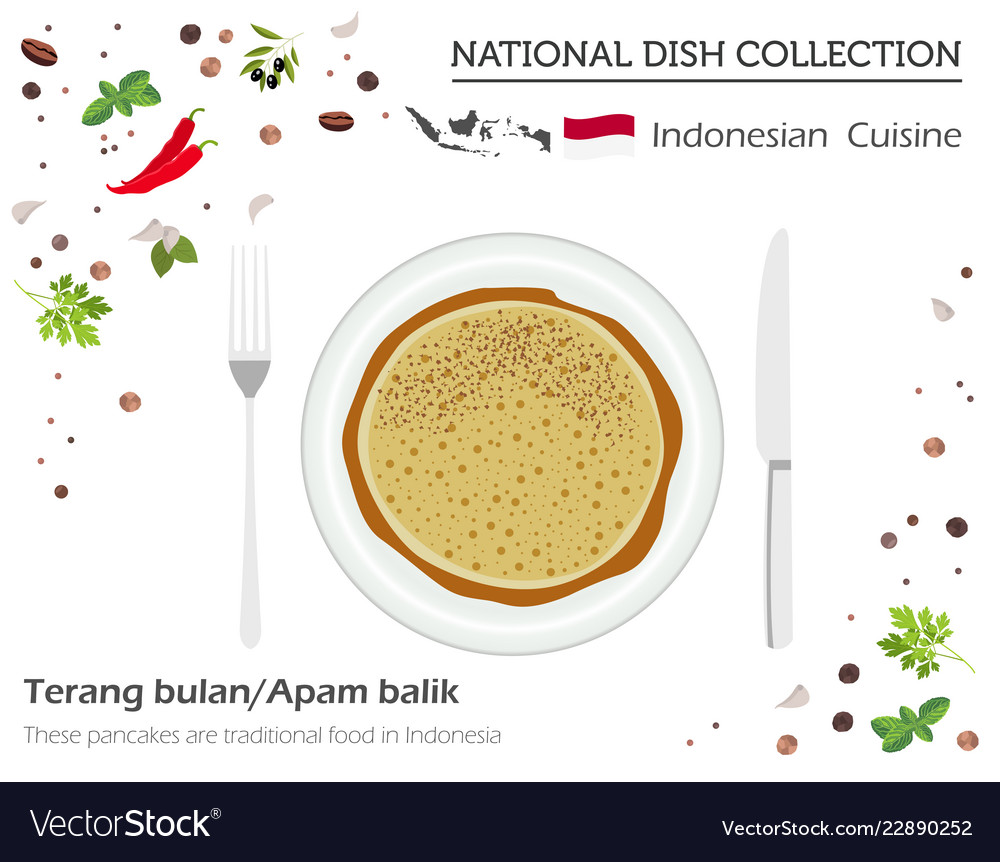 Indonesian cuisine asian national dish collection