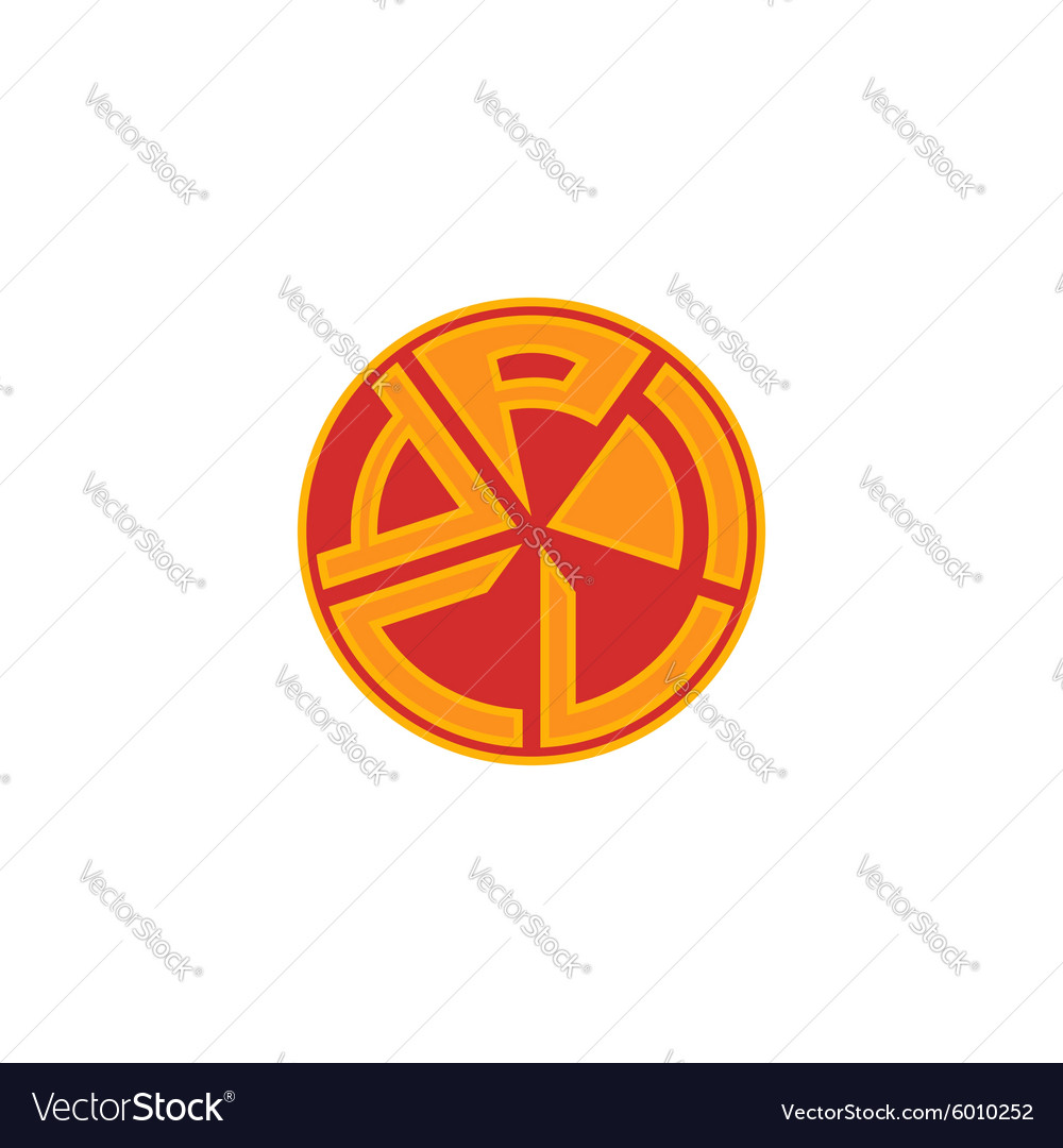 Pizza logo fast food banner isolated flat emblem vector image