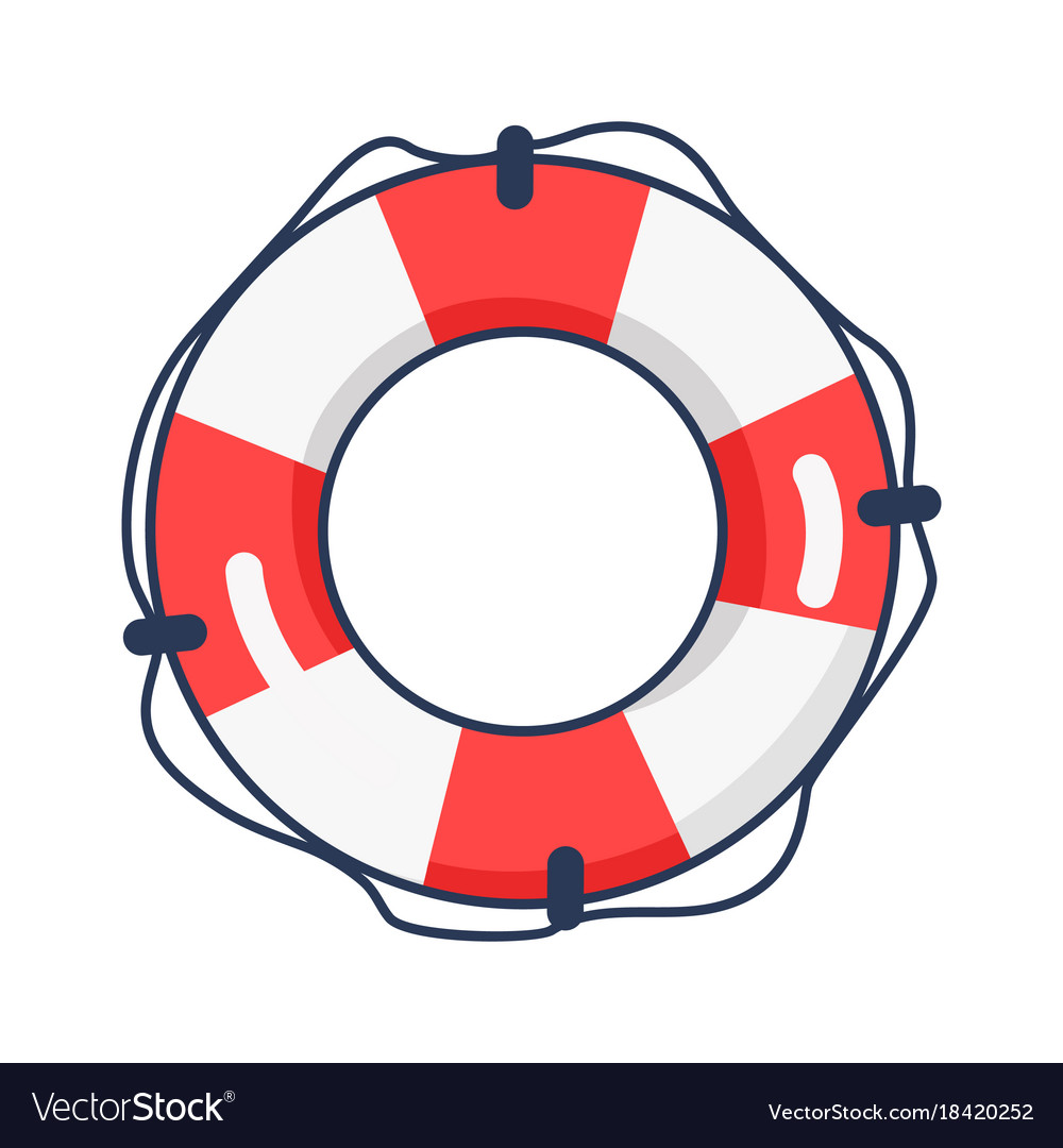 035225937d3 Shiny striped life buoy isolated Royalty Free Vector Image