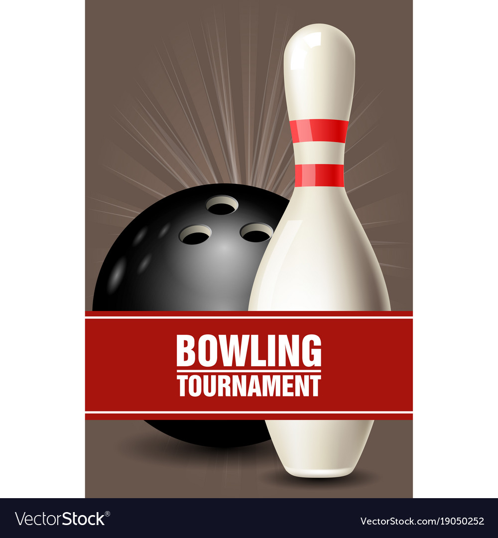 Skittle and ball bowling tournament invitation vector image stopboris Gallery