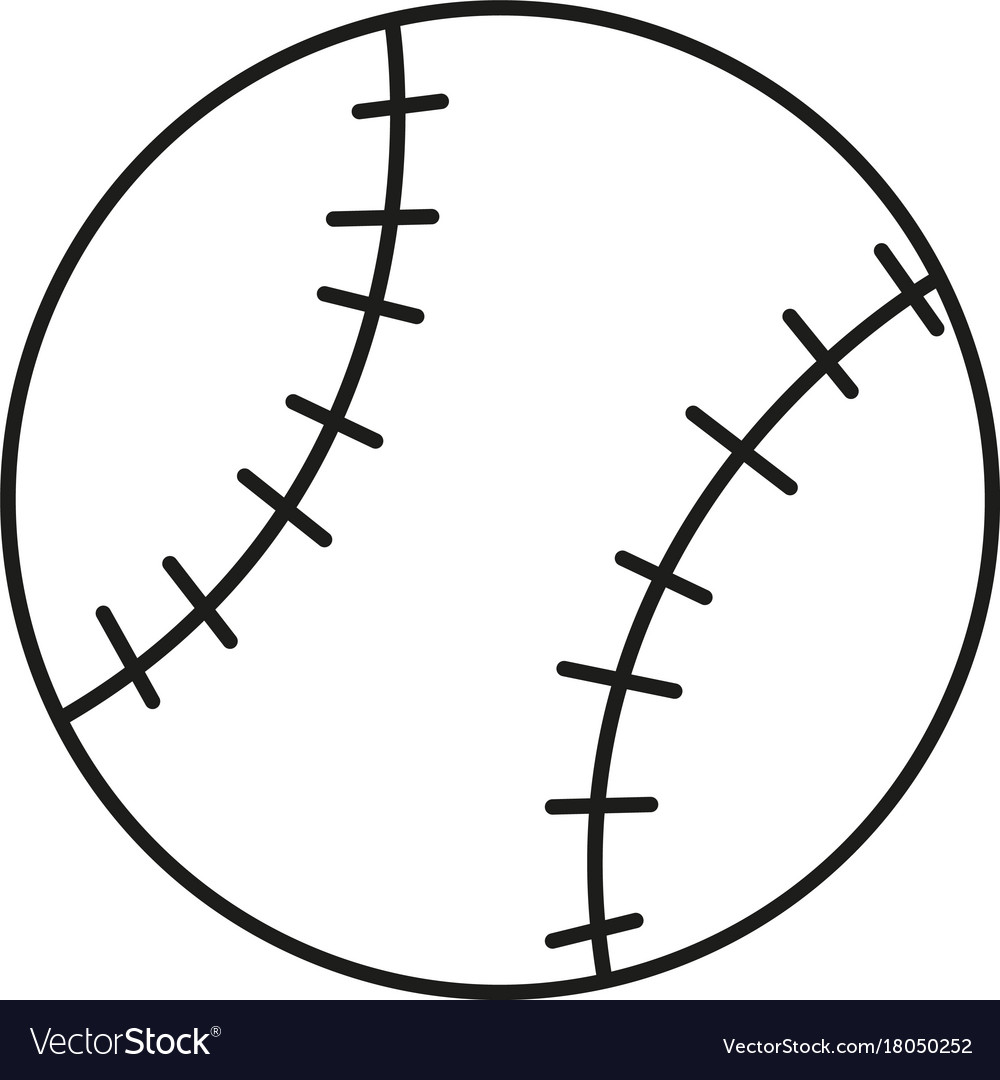 Soft ball icon vector image