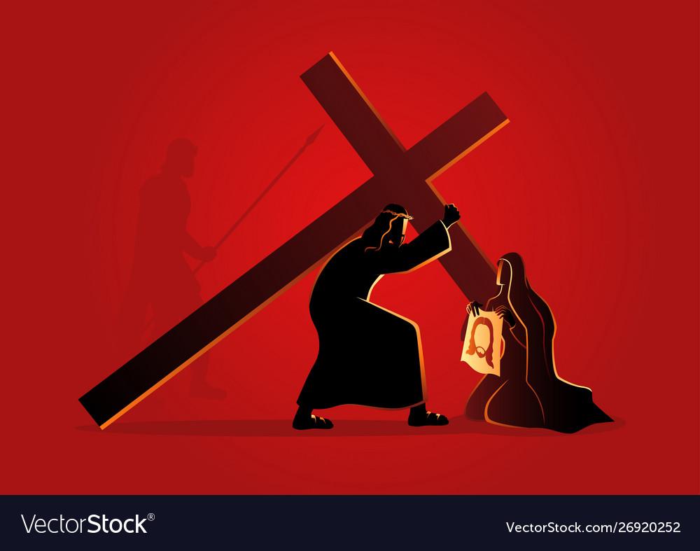 Veronica wipes face jesus
