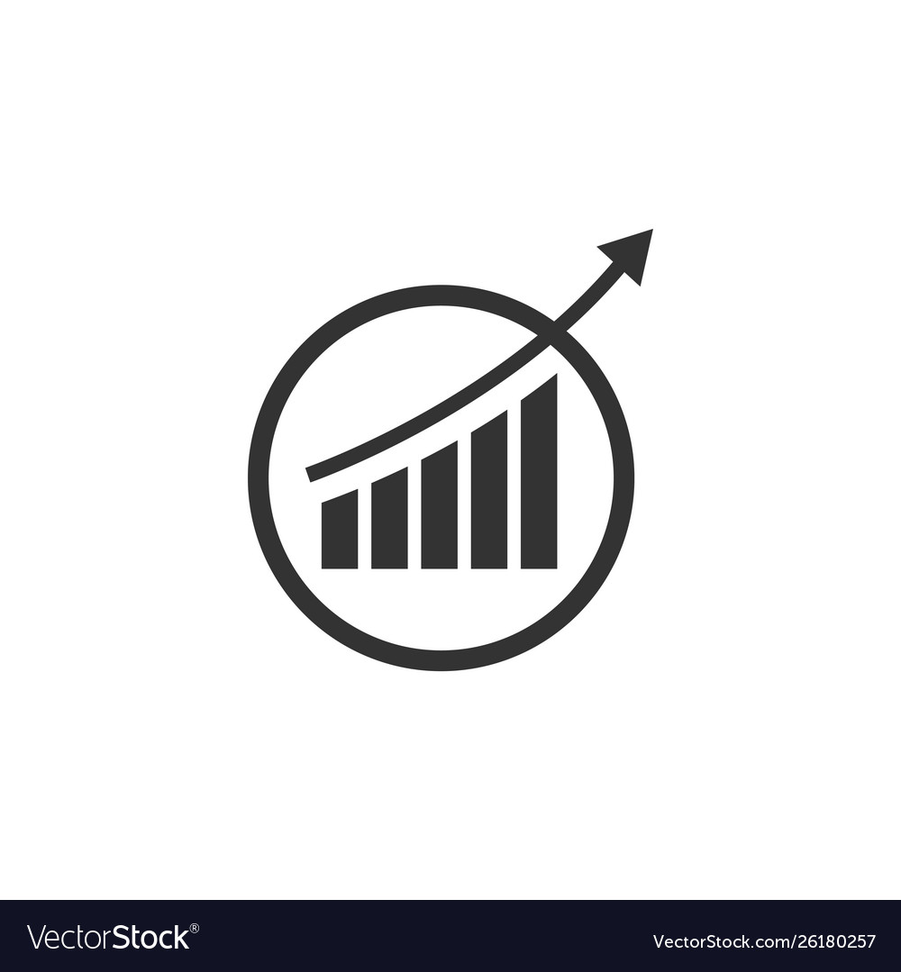 Analytics icon design template isolated
