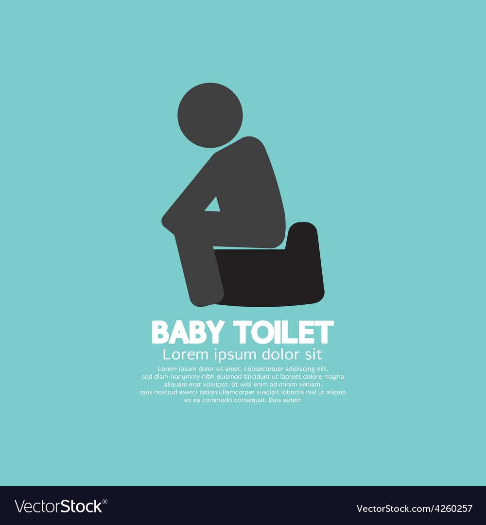 Black Symbol Baby Toilet vector image