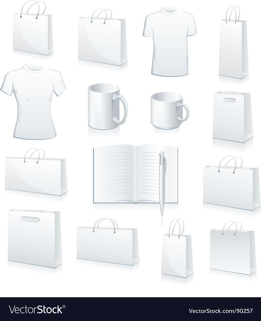 Blank products vector image