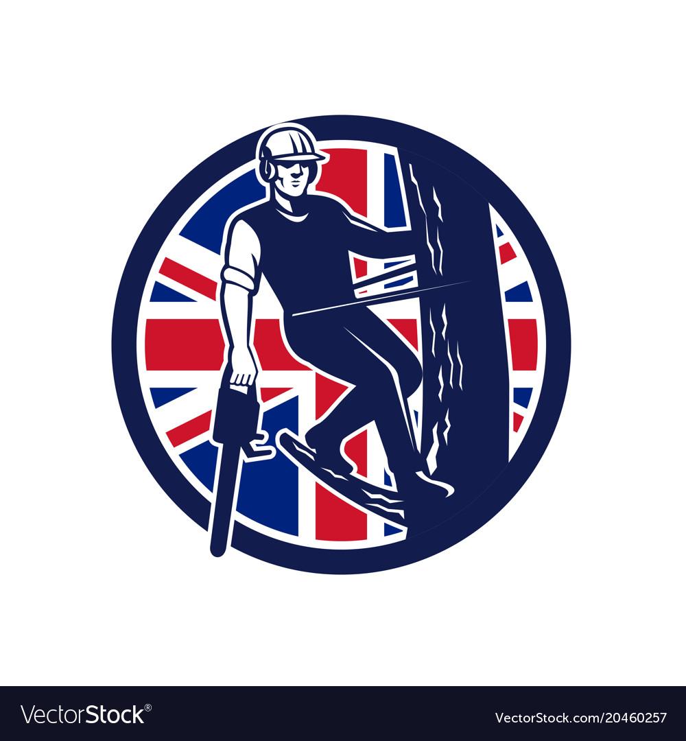 British arborist union jack flag icon