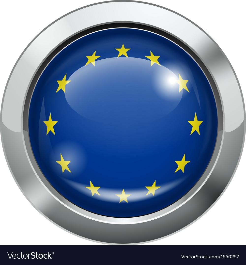 European union flag metal button