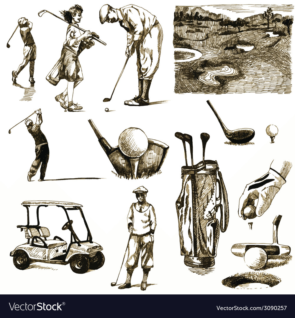 Golf collection vector image