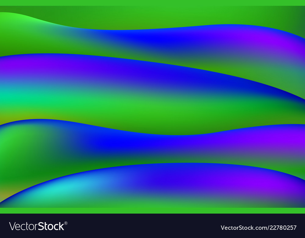 Green and blue colorful smooth twist light lines