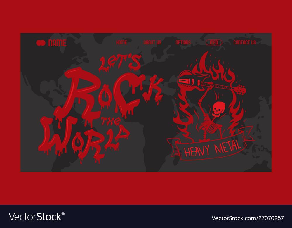 Heavy metal band website design