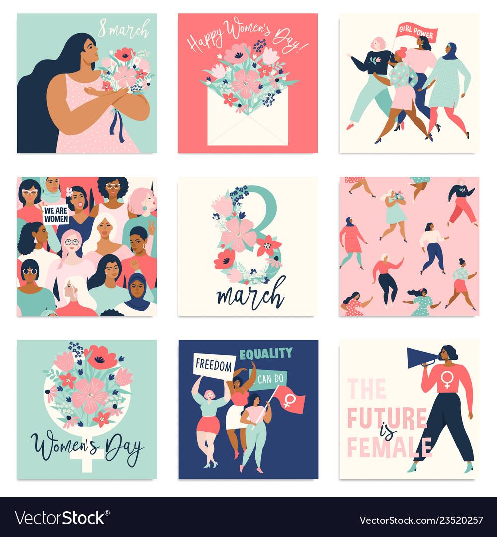 International womens day templates