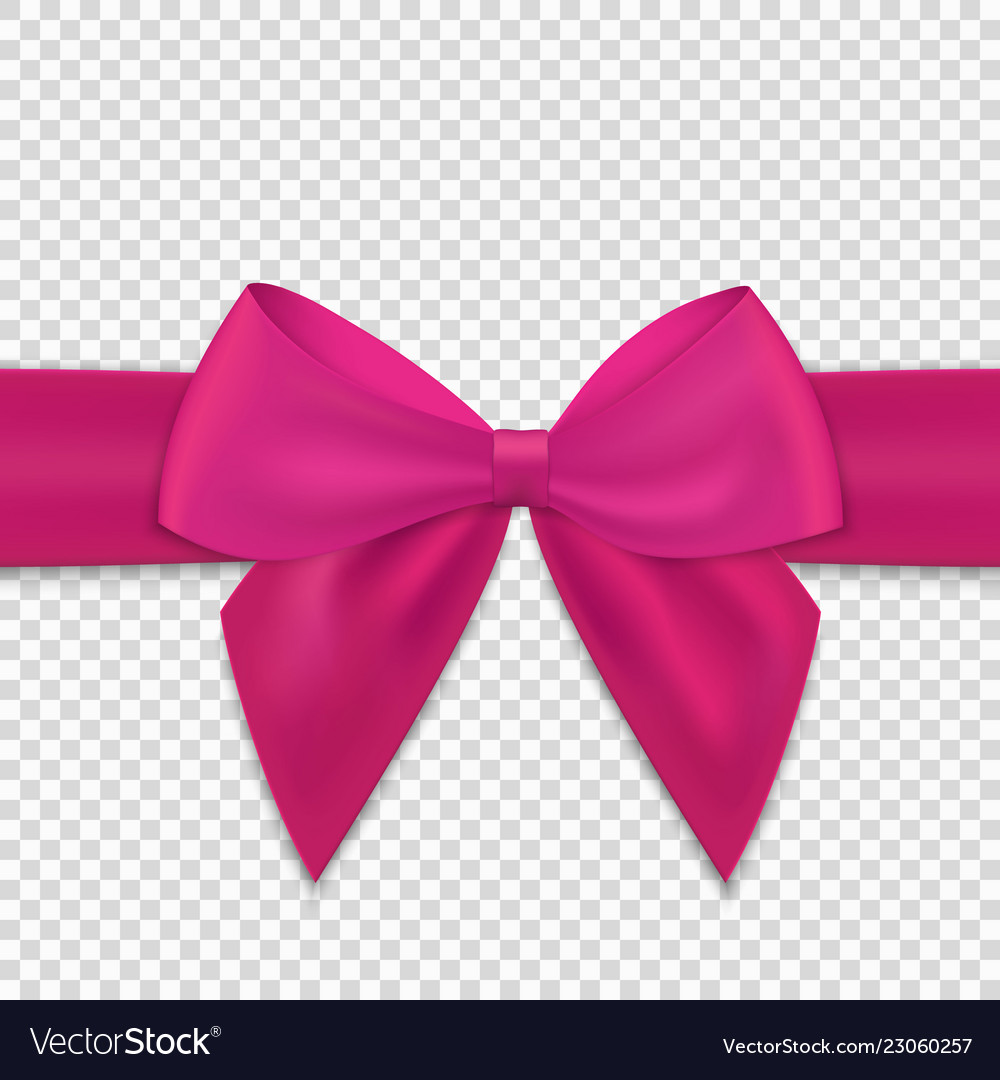 Realistic bow and ribbon isolated