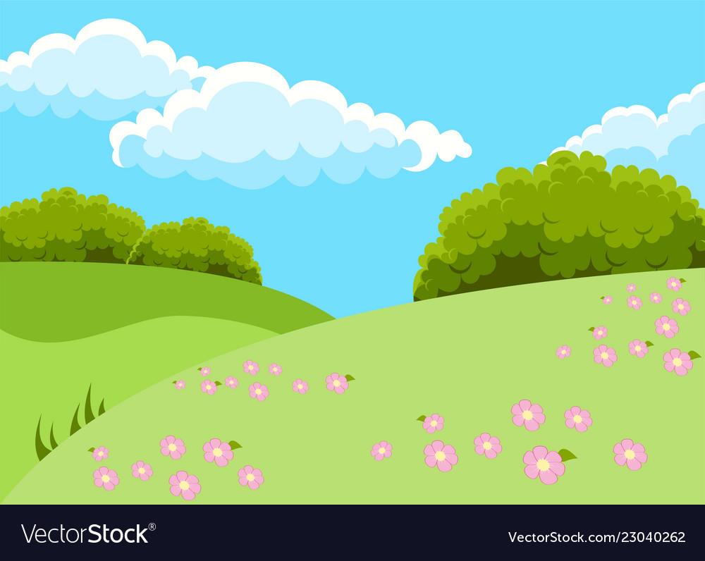 Beautiful fields landscape