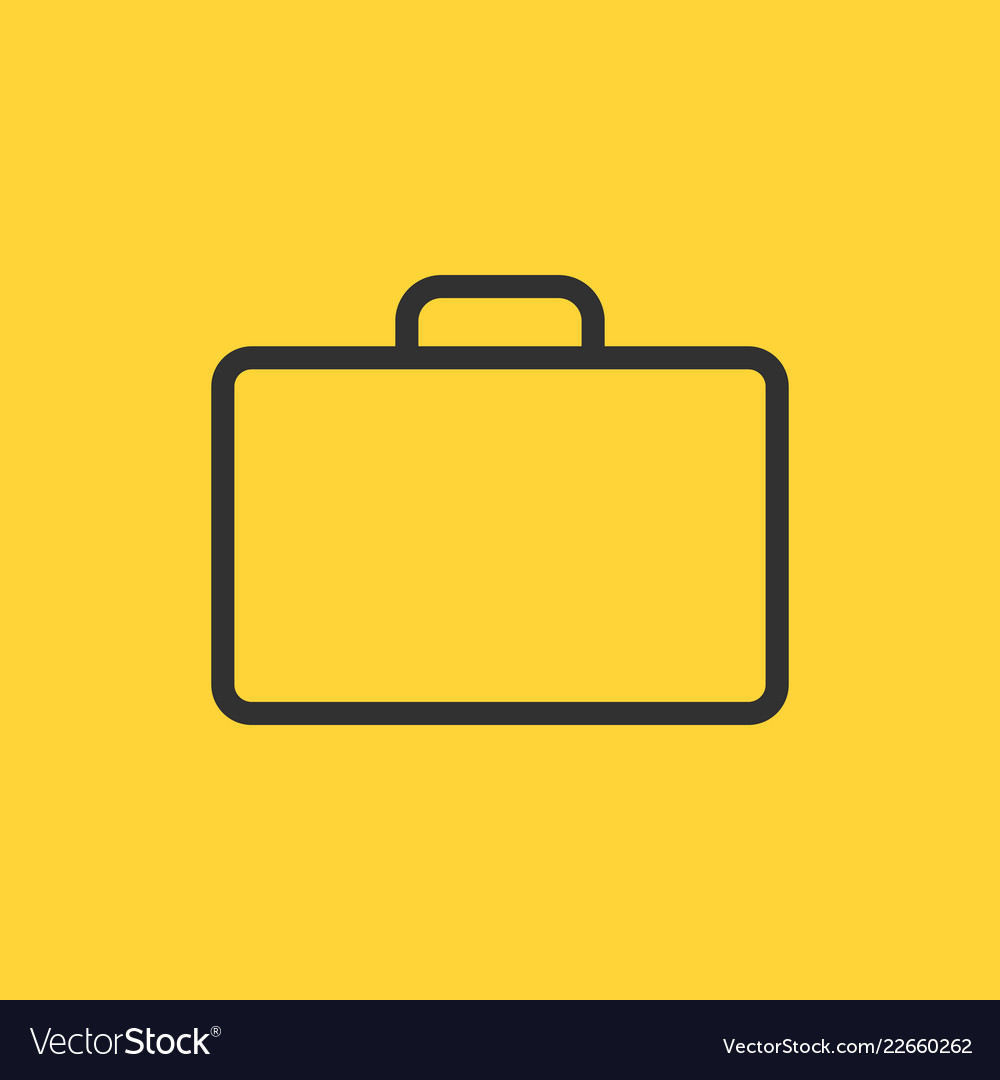 Briefcase thin line icon flat icon isolated on