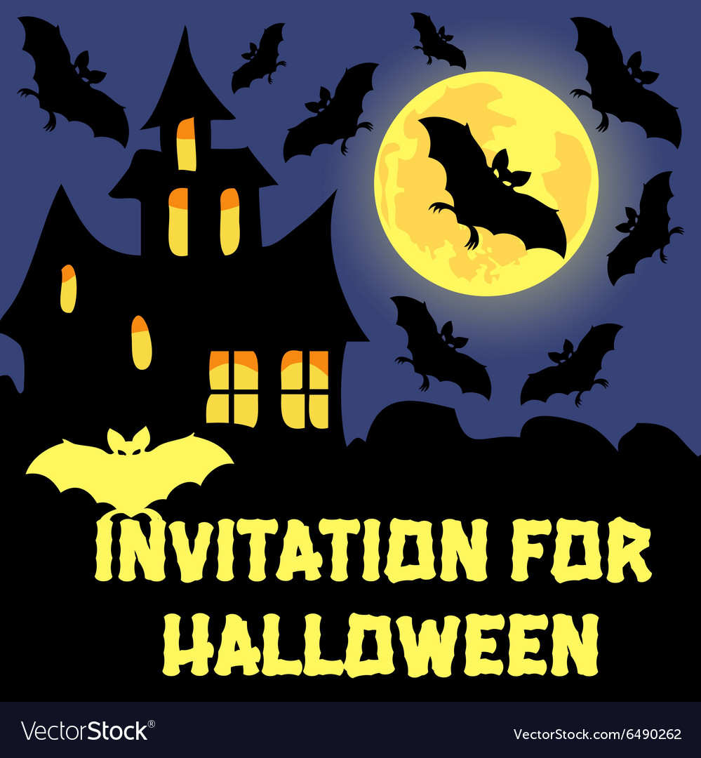 Invitation For Halloween Party Card