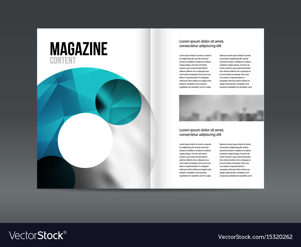 Modern brochure layout design template Royalty Free Vector
