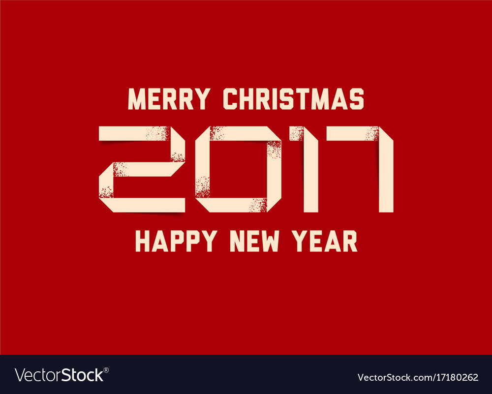 simple happy new year card 2017 vector image