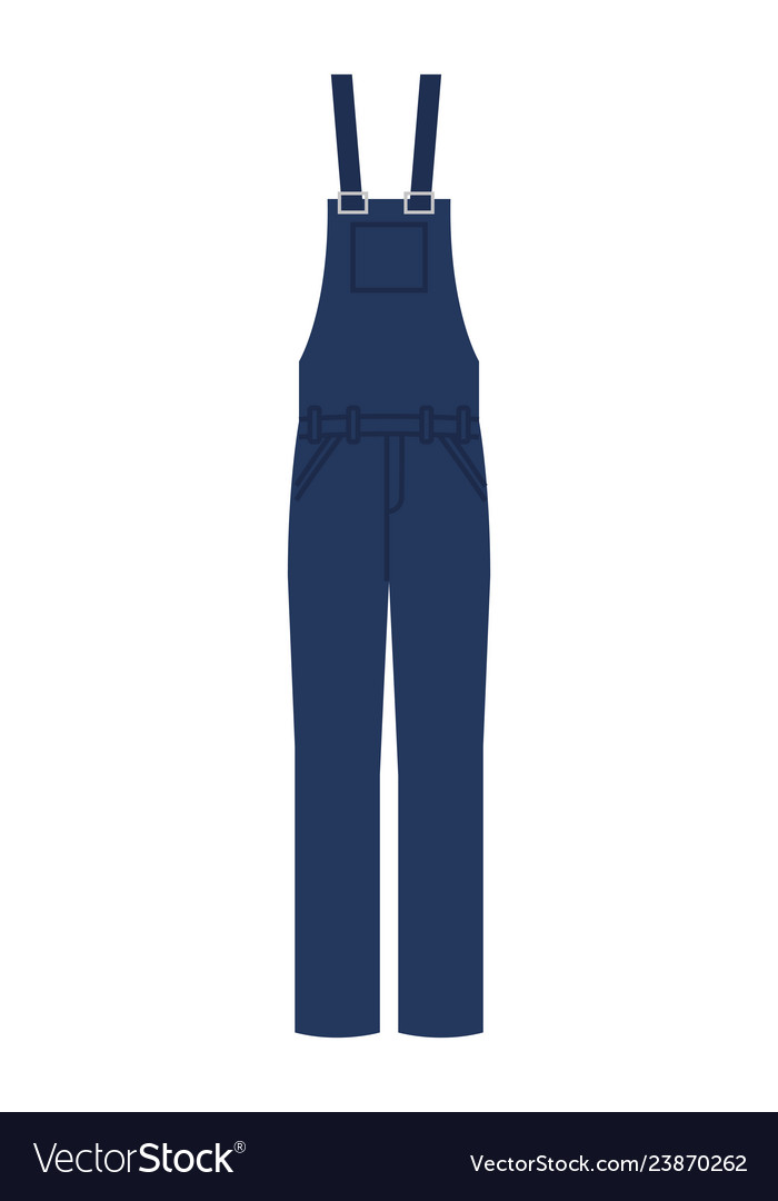 Worker uniform overalls icon