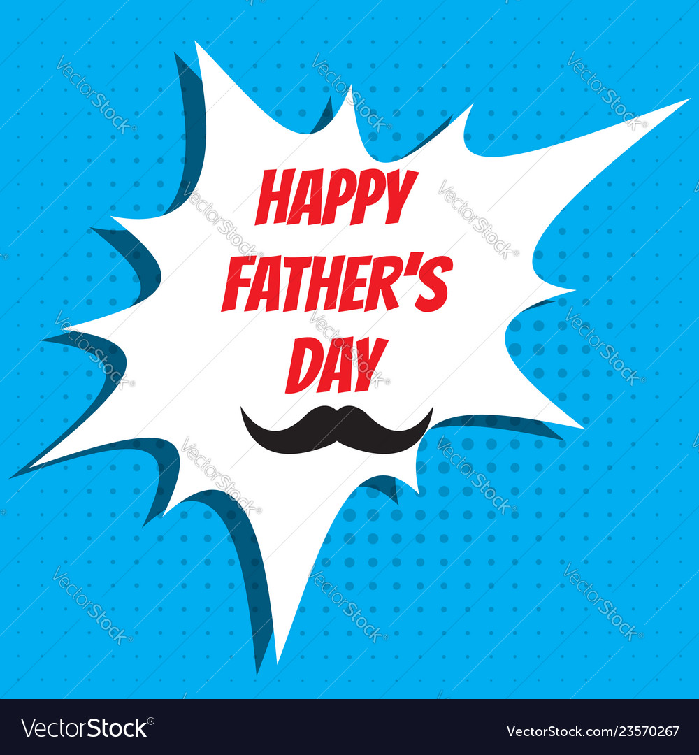 Fathers day greeting card design
