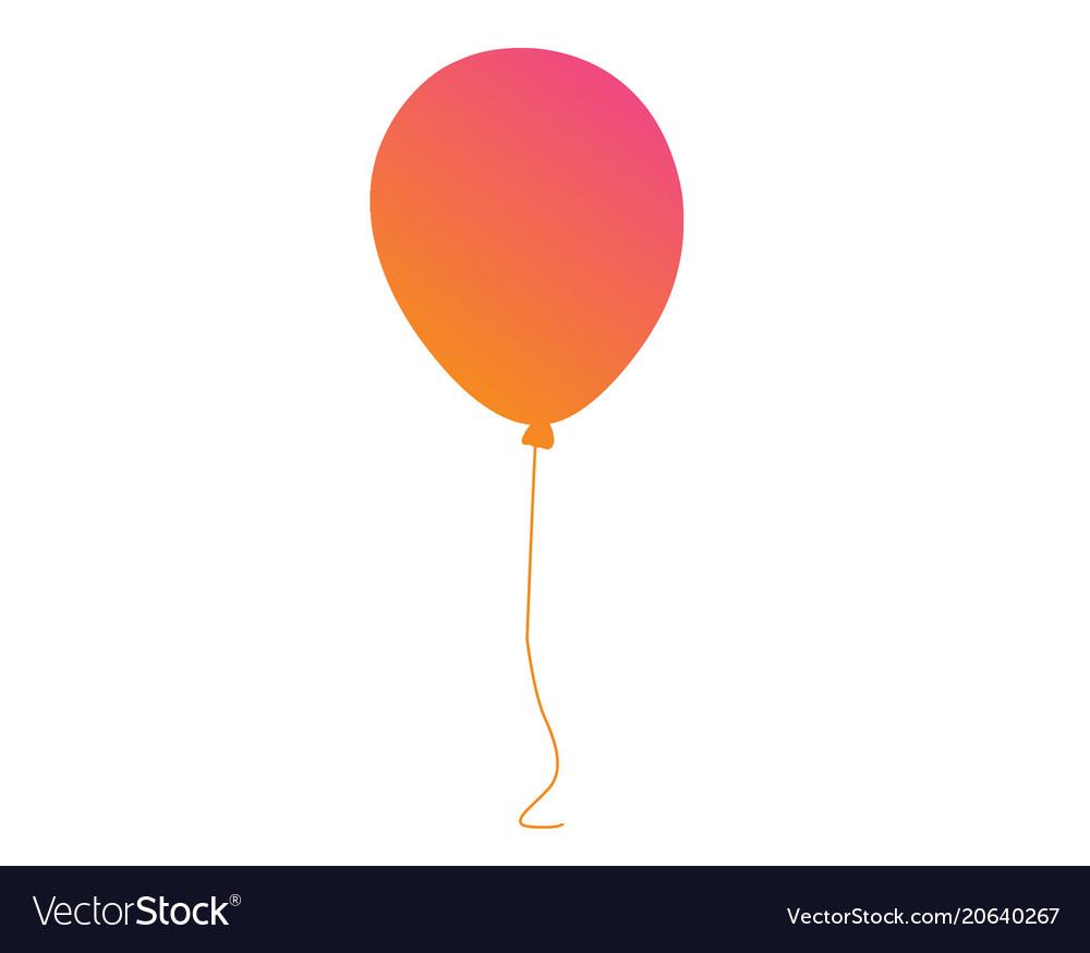 Pastel gradient pink to orange gathering event vector image