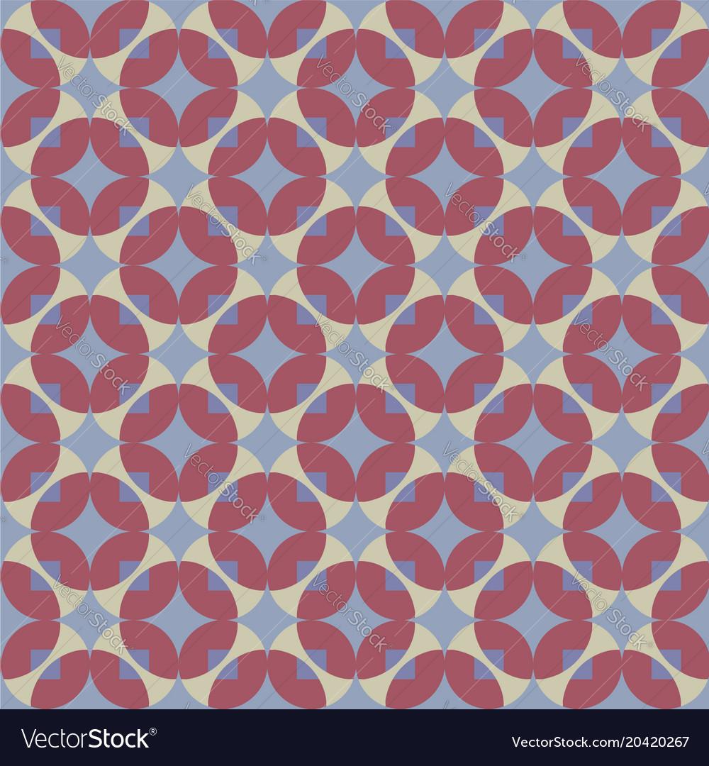 Seamless pattern with circles and diamonds