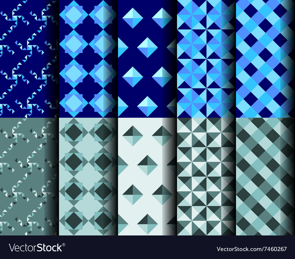 Square Style Seamless Pattern 001 vector image