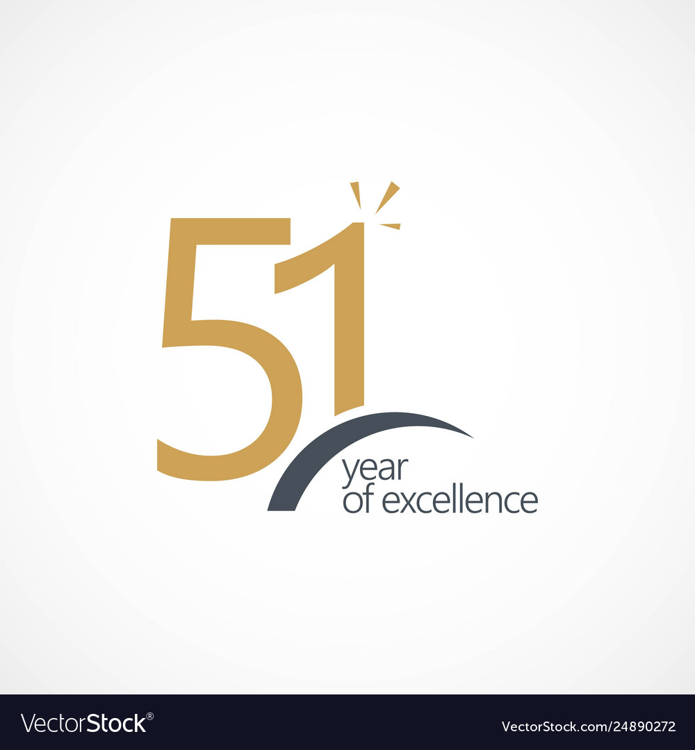 51 year excellence template design