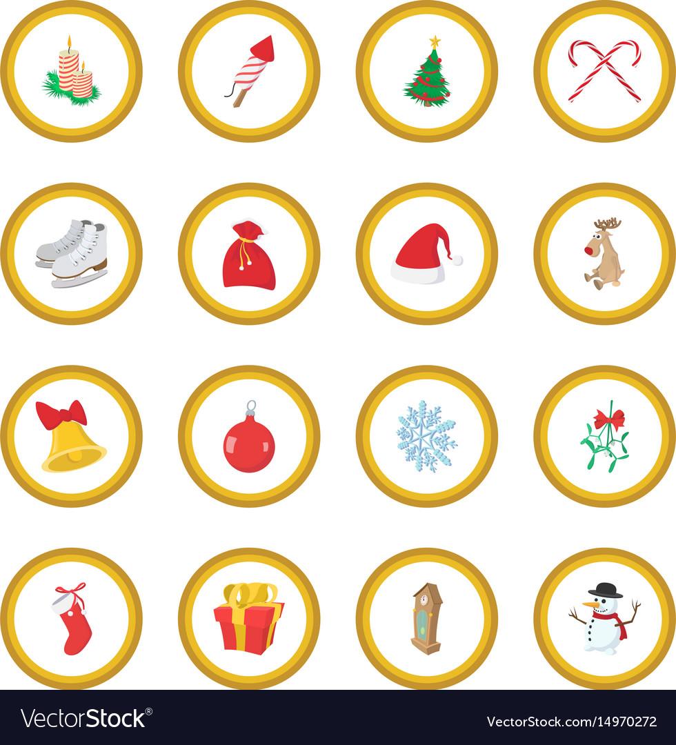 Christmas cartoon icon circle
