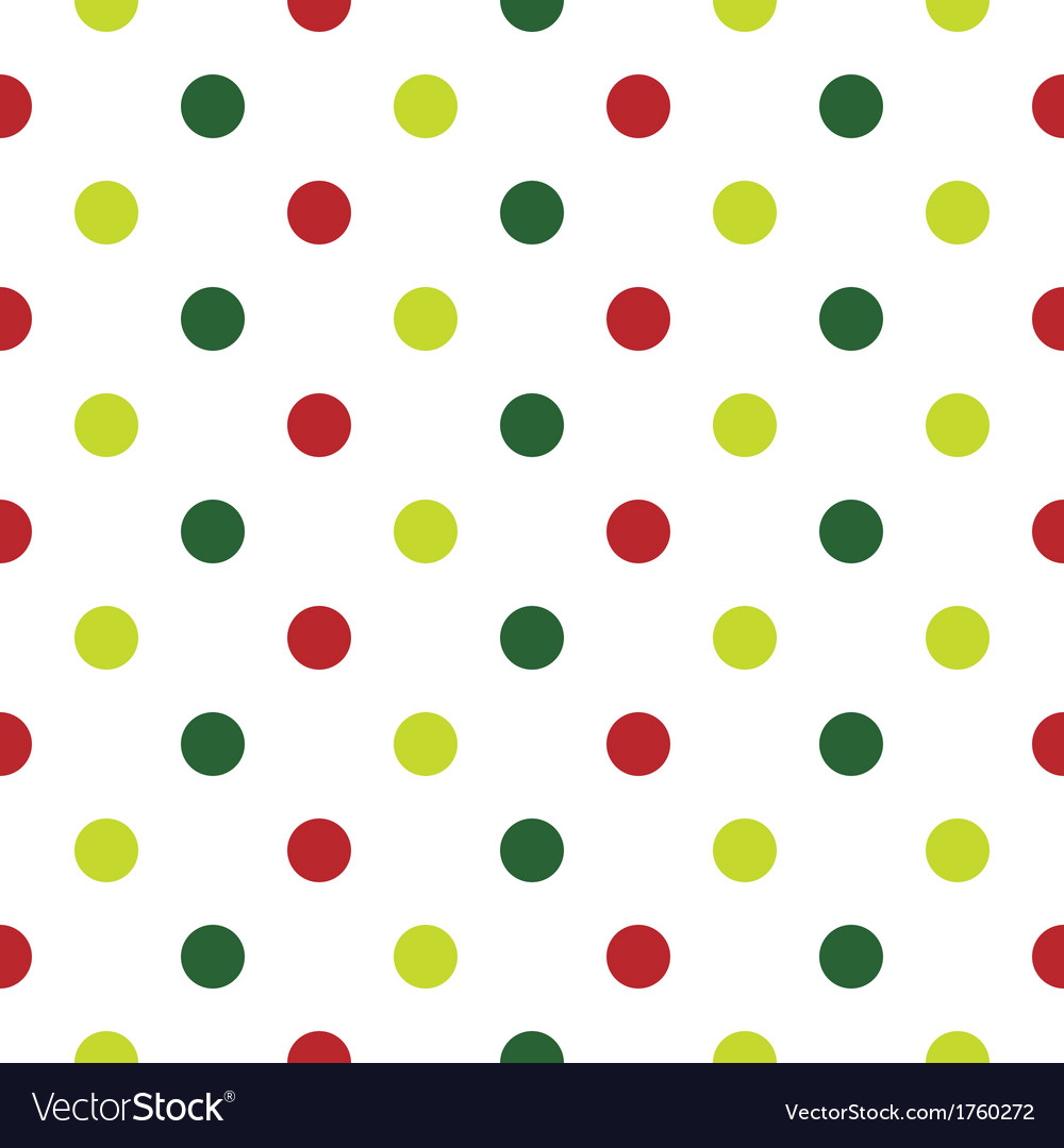 Christmas Polka Dot background in red and green