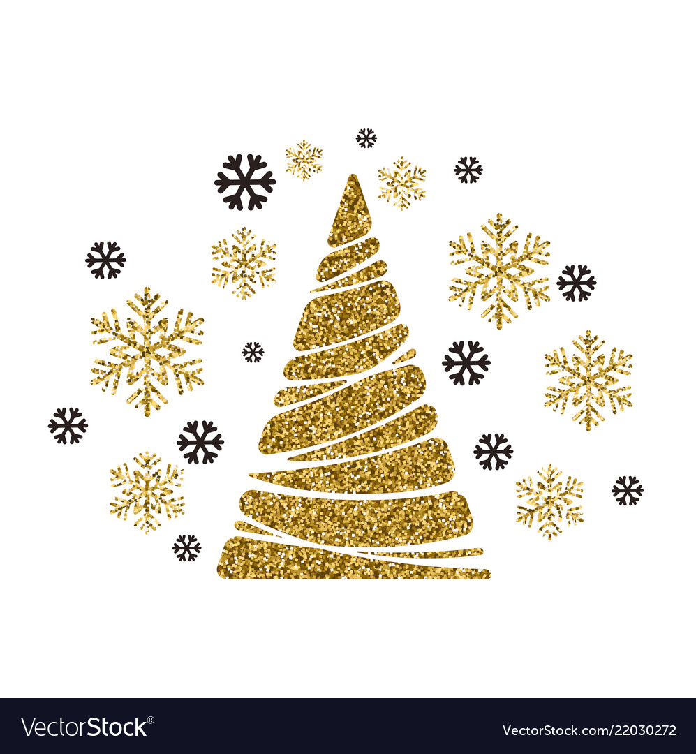 Christmas tree holiday background with
