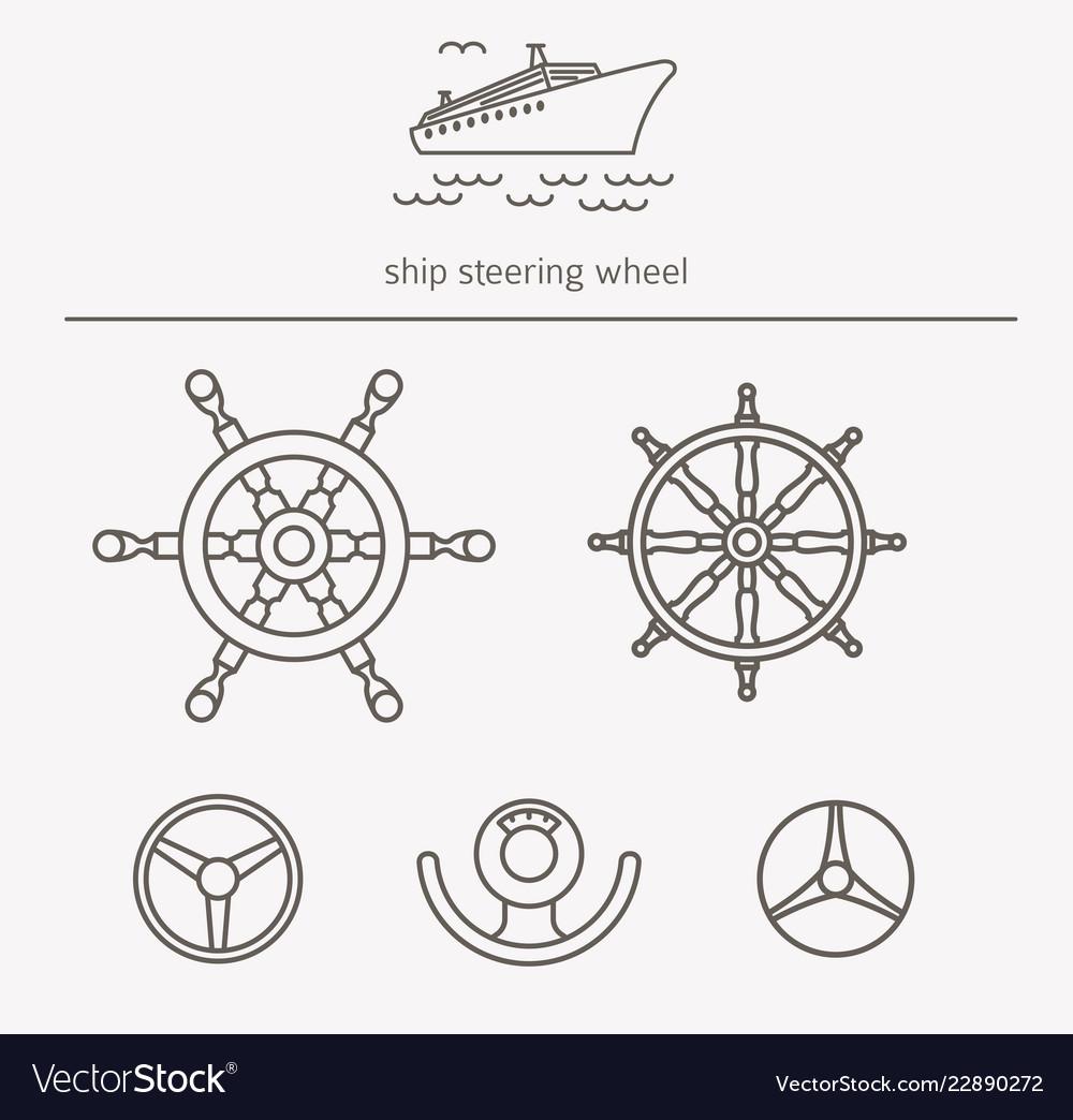Equipment for transport driving logo set ship