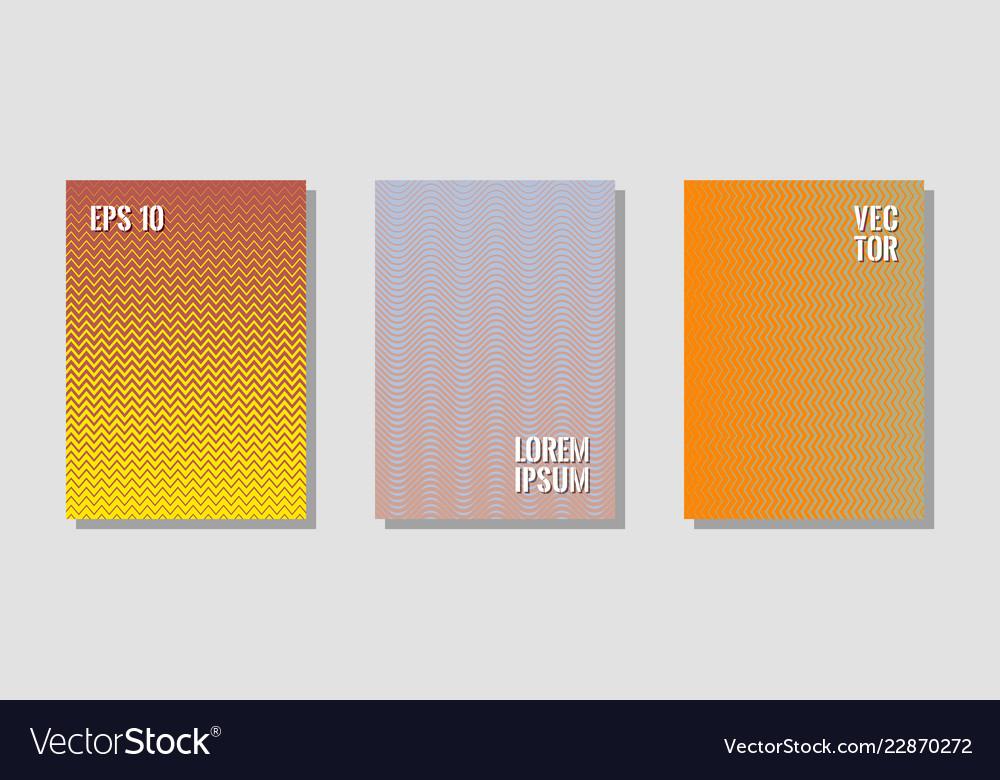 Halftone gradient texture cover layouts vector image on VectorStock