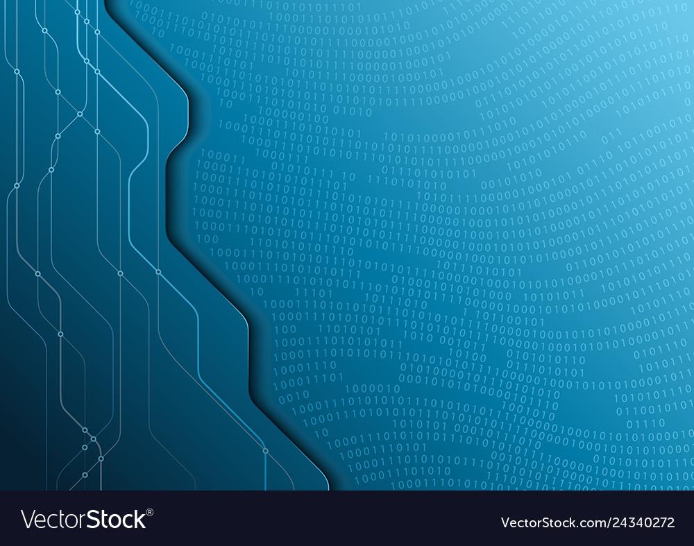 Hi-tech digital communication concept