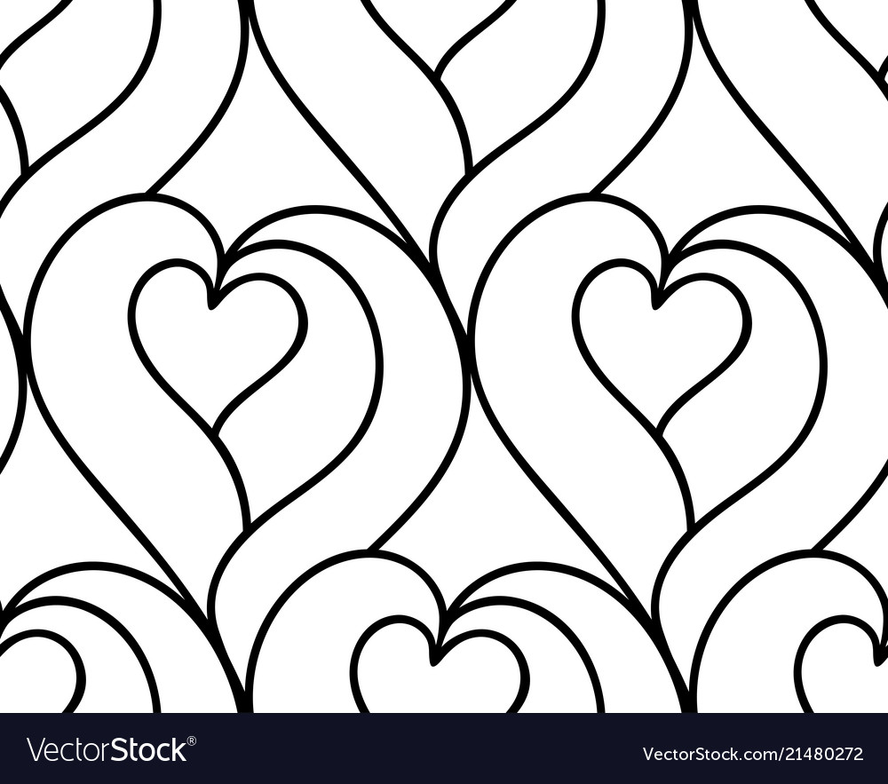 Seamless background hand drawn hearts