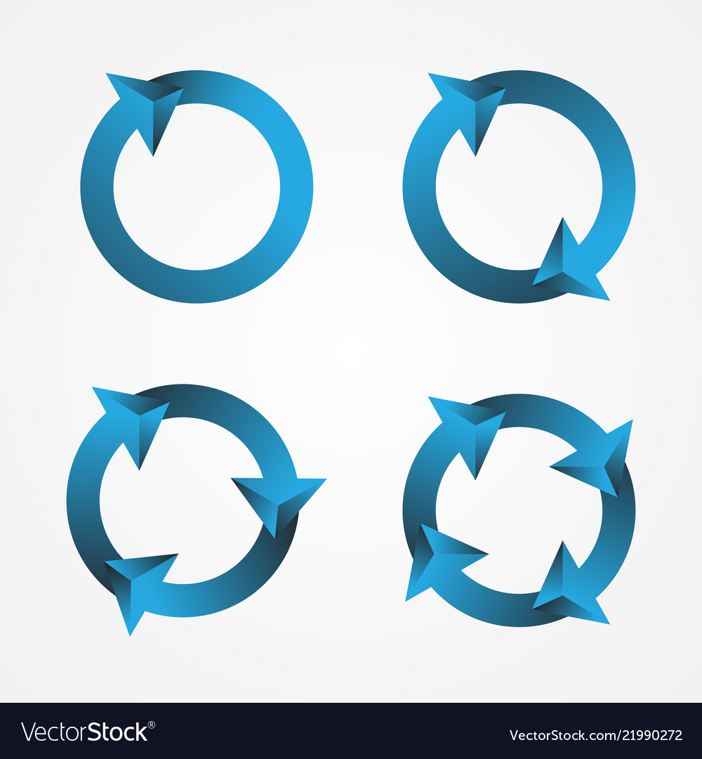 Set circle arrow