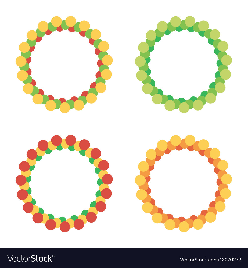 Set of colorful round circle frames Royalty Free Vector
