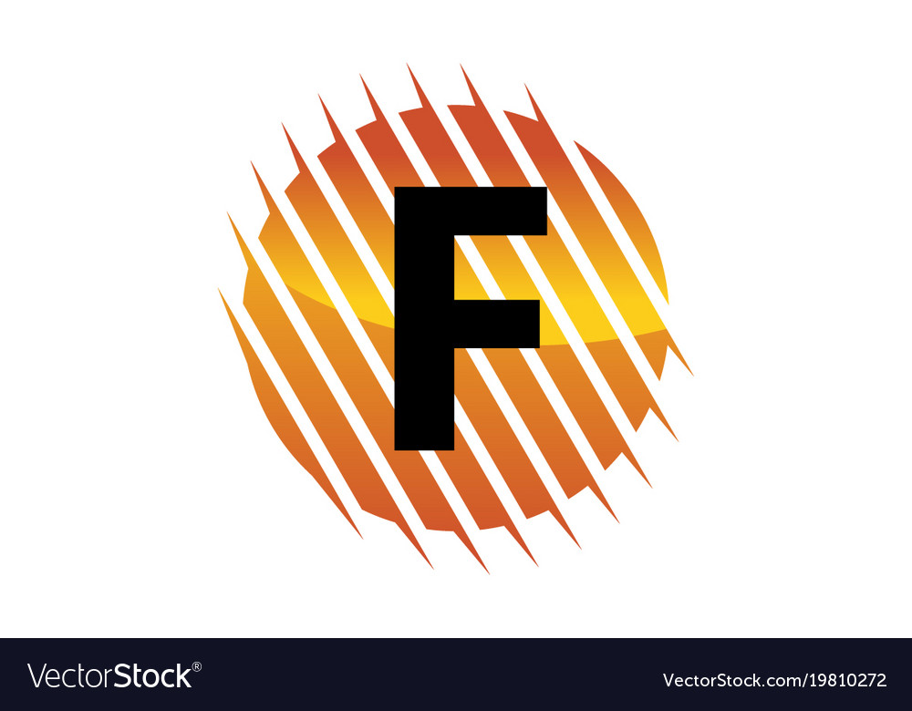 Technology letter f vector image