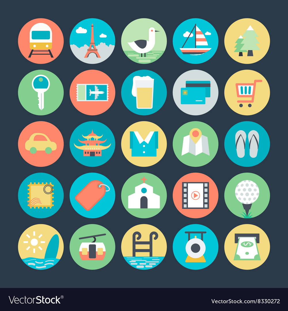 Travel Colored Icons 2