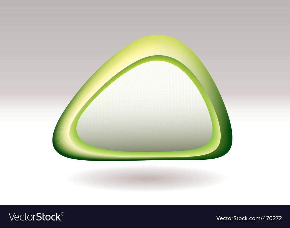 Triangle pebble green vector image