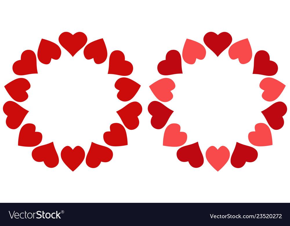 Valentine frame hearts circle photo frame