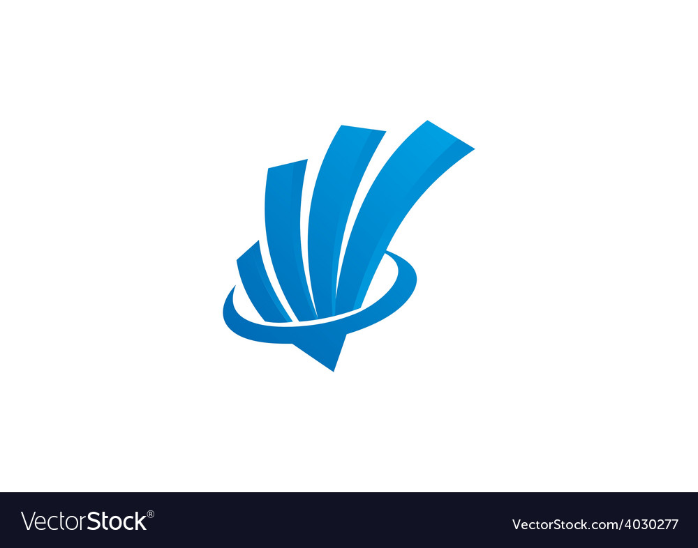 Abstract graph finance logo
