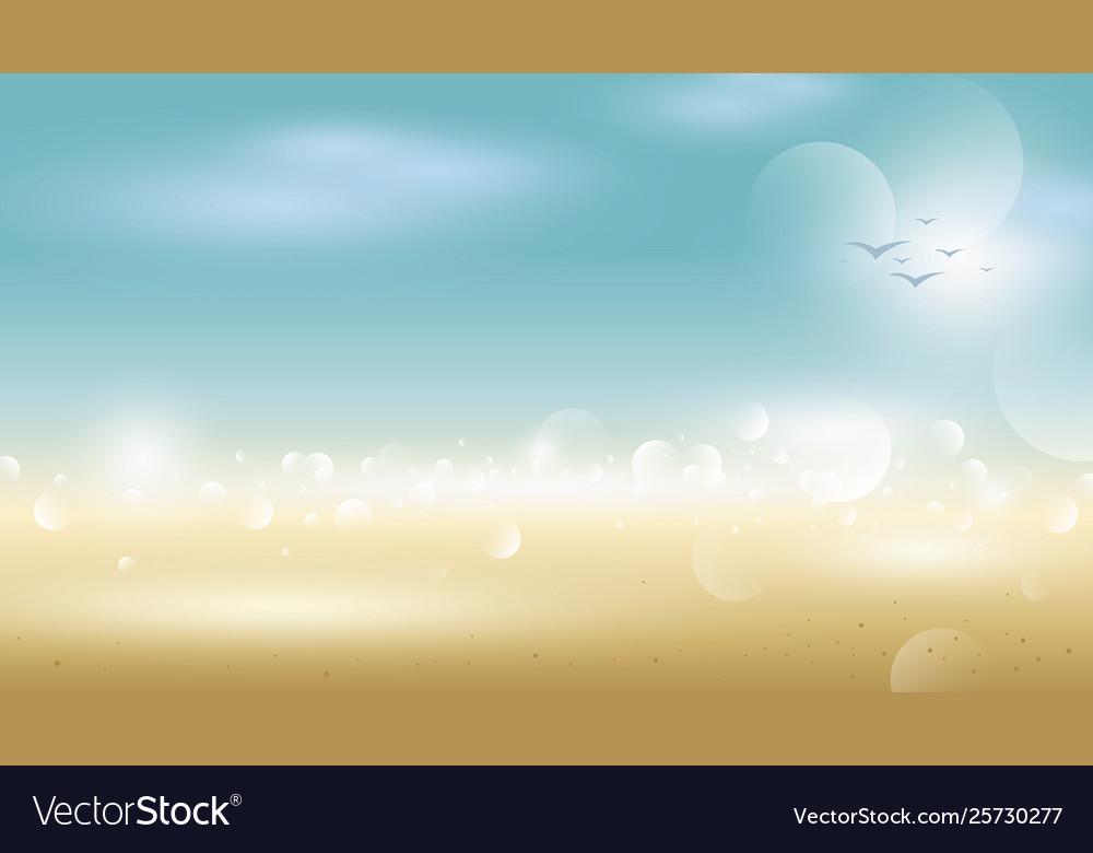 Abstract tropical summer background blur beach