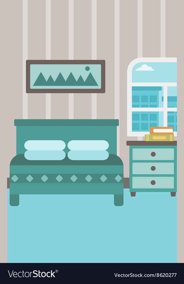 Background Of Bedroom Royalty Free Vector Image