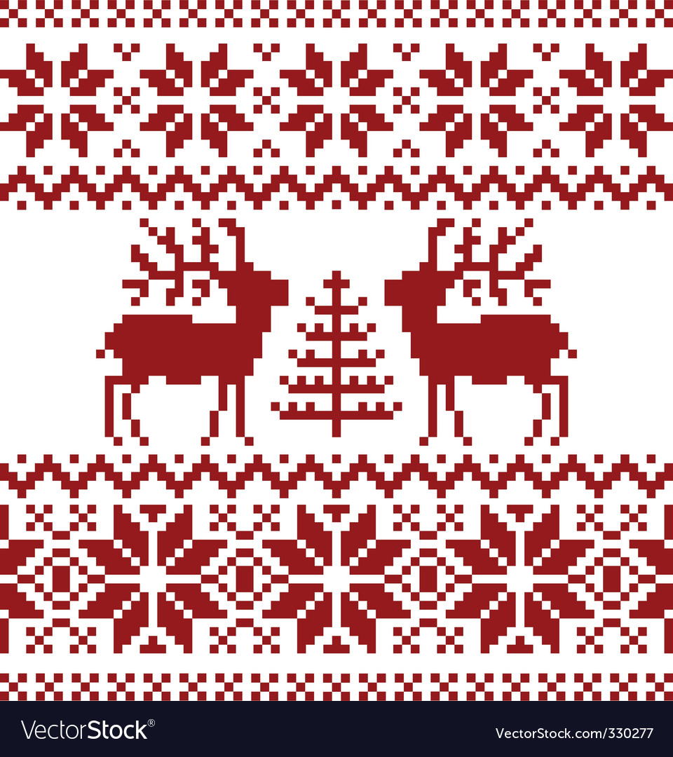 Christmas Norwegian pattern Royalty Free Vector Image