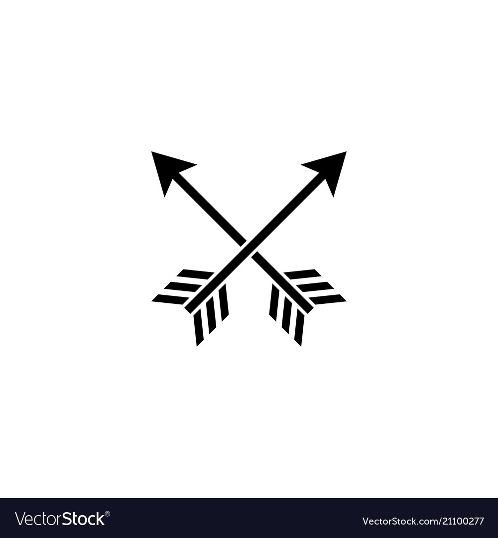 Cross arrows flat icon