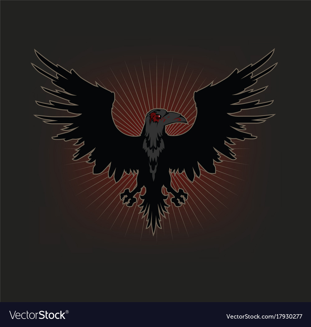 The raven silhouette