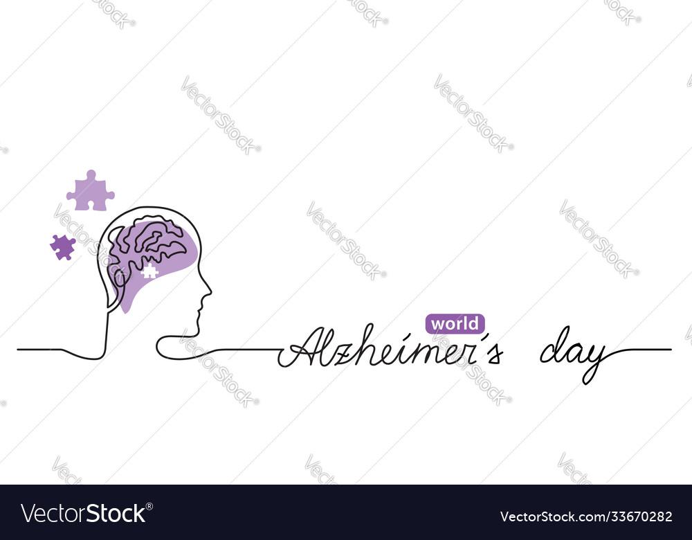 Alzheimer s day simple background web banner