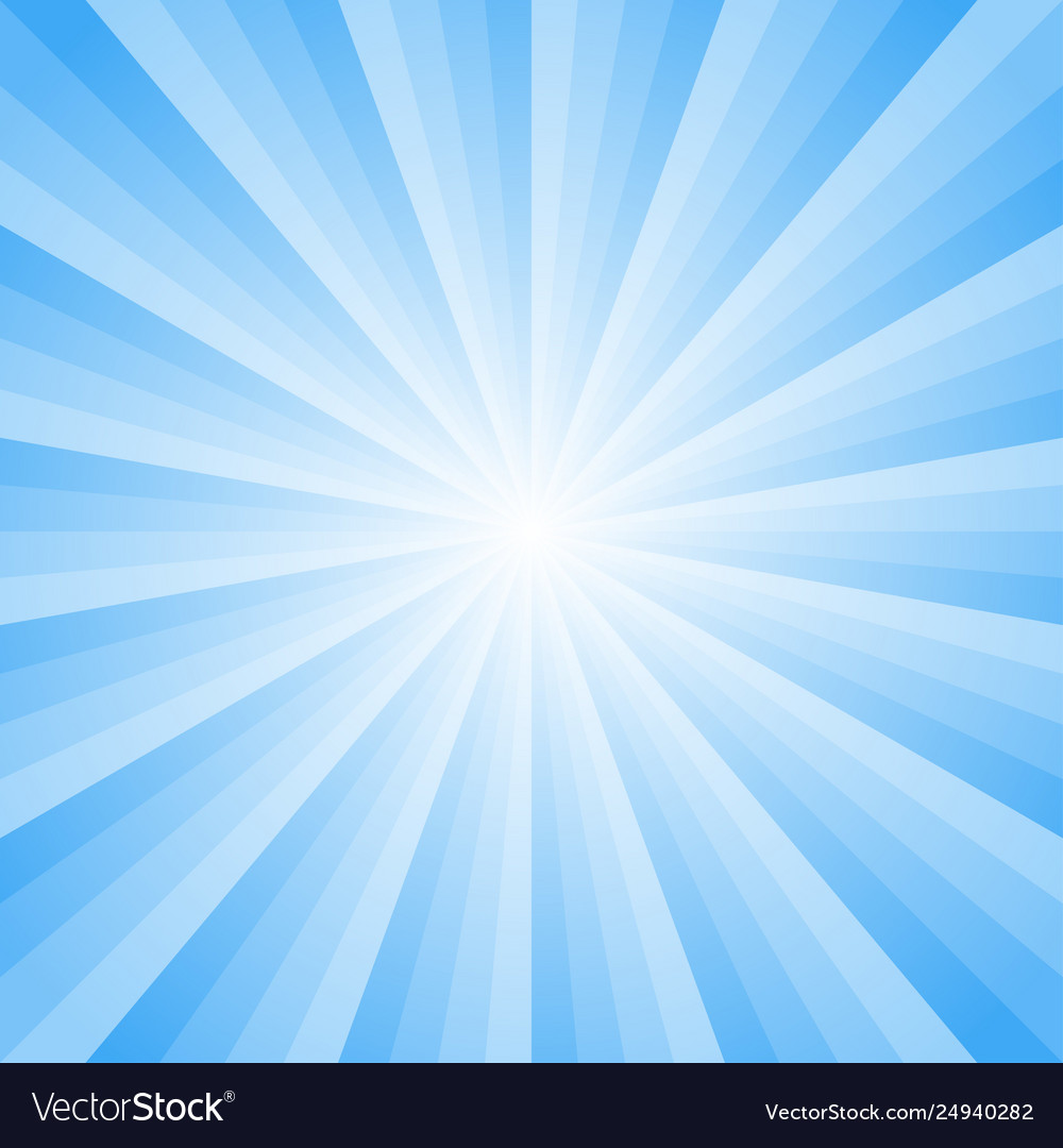 Background with light blue rays