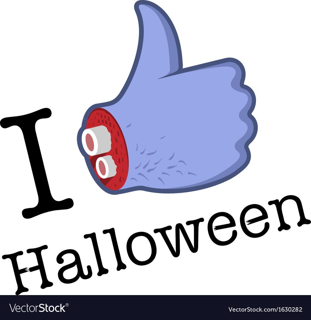 Halloween LikeThumbs Up symbol