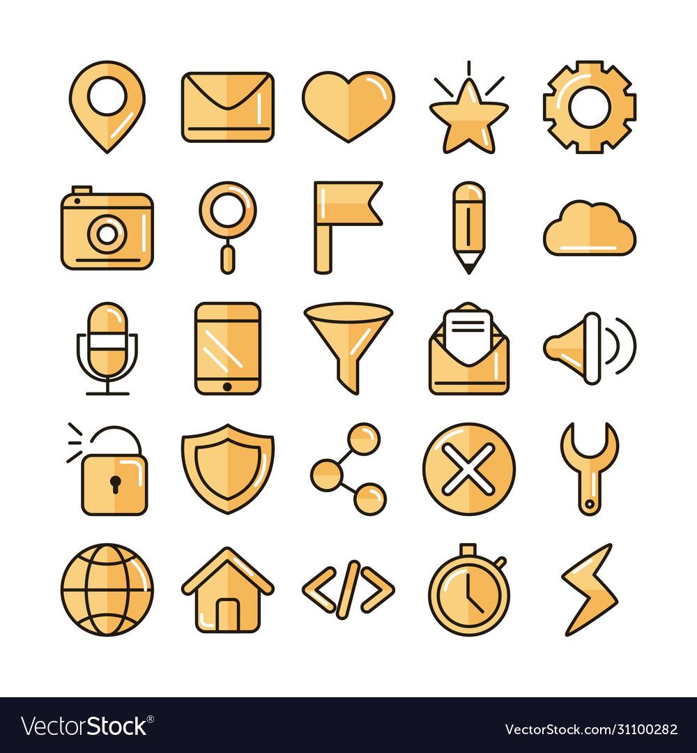 Interface internet web technology digital icons
